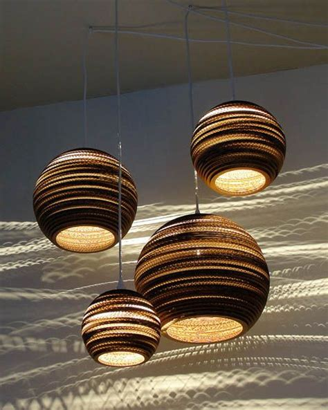 Paper Light Fixtures Pendant Light Fixtures Made Of Corrugated Paper Contemporary Lighting Design From Graypants