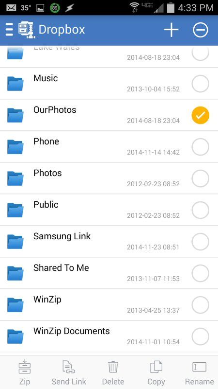 dropbox yahoo finance winzip r for android now offers dropbox support for safer