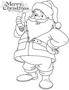 funny santa claus coloring page free printable coloring