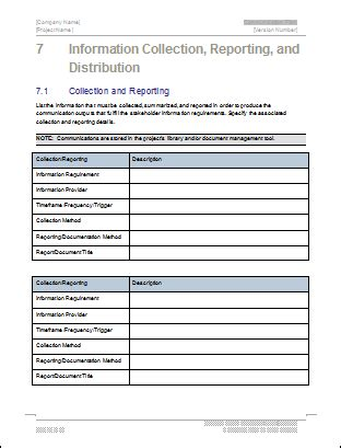 Communication Plan Templates Download Ms Word And Excel Spreadsheets Communications Report Template