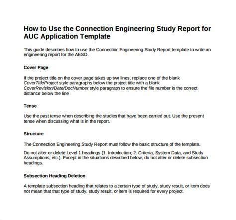 engineering template sle engineering report 14 documents in pdf