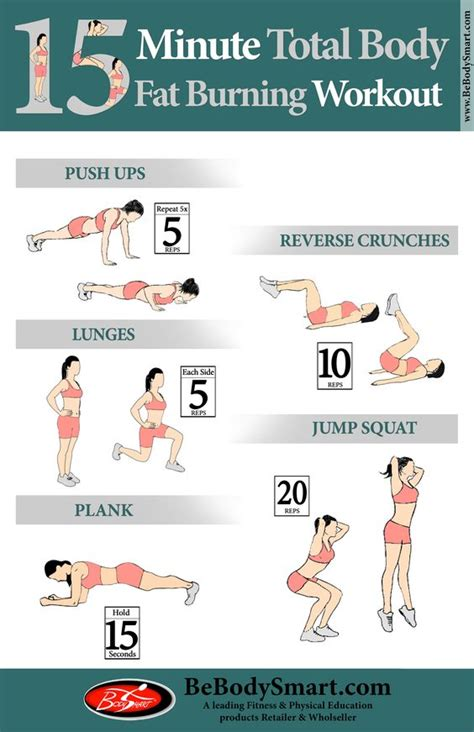 15 minute total burning workout exerise tips
