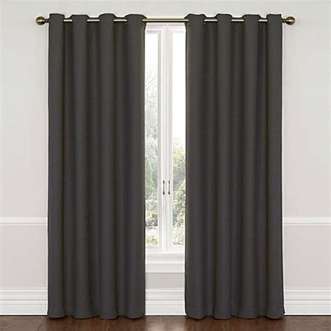 Charcoal Gray Curtains Designs Buy Insola Westin 63 Inch Blackout Window Curtain Panel In Charcoal Gray From Bed Bath Beyond