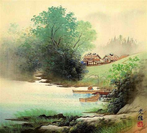 imagenes paisajes japoneses cuadros modernos pinturas y dibujos legendarias