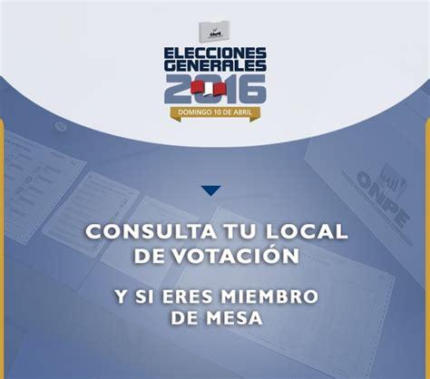 reniec consulta si es mienbro de mesa 2016 bolet 237 n el parlamento virtual peruano n 186 4245 viernes 1