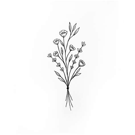 wildflower bunch tattoo inspiration pinterest
