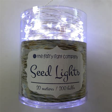 pure white fairy lights quot seed quot fairy lights silver wire pure white 20m the