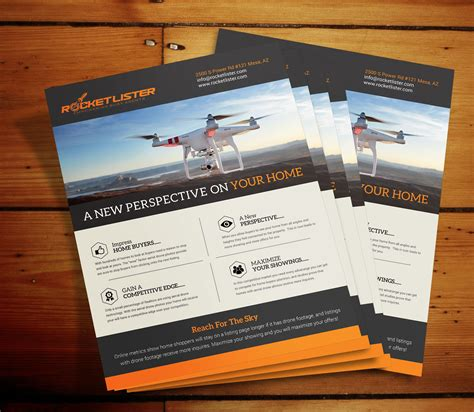 Aerial Drone Flyer Rocket Lister Aerial Photography Website Templates