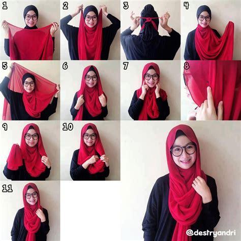 zuutell tutorial hijab simple dari sister sister yang kece 6 cantik tutorial hijab segi empat saudia untuk pesta