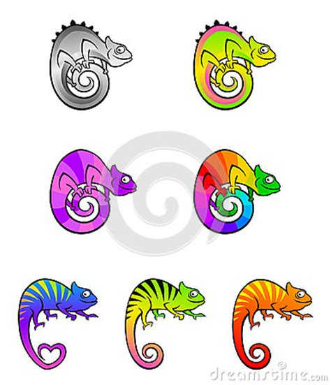 colorful chameleon clipart