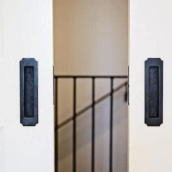 Glass Pocket Doors Transitional Entrance Foyer Glass Pocket Door Hardware