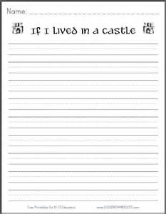 Castle Writing Paper If I Lived In A Castle Free Printable K 3 Writing
