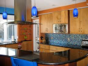 Blue Backsplash Kitchen by Colorful Kitchen Designs Kitchen Ideas Amp Design With