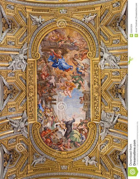 baroque ceiling rome the baroque ceiling fresco miracle of the madonna