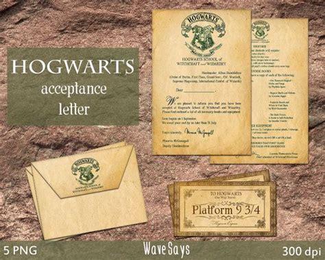 Hogwarts Acceptance Letter For Sale Hogwarts Acceptance Letter Harry Potter World 5 Pieces Instant Digital Printable