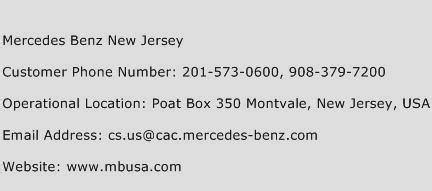 Mercedes Contact Number by Mercedes New Jersey Customer Service Phone Number