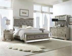 Furniture Sets Bedroom Pulaski Furniture Farrah Silver 5 King Bedroom Set