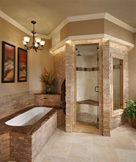 His And Hers Home Office Design Ideas by Stacked Stone Steam Shower Looks Classy And Elegant Decoist