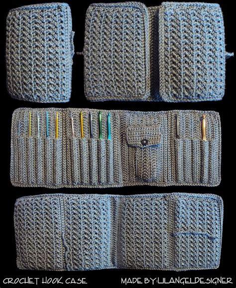 pattern for crochet needle holder pinterest the world s catalog of ideas