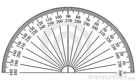 protractor print out for clinometer protractor template stock image image 5827761