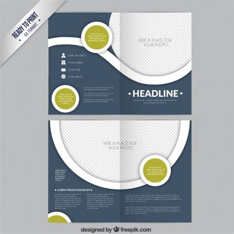 circle brochure template circles brochure template vector free