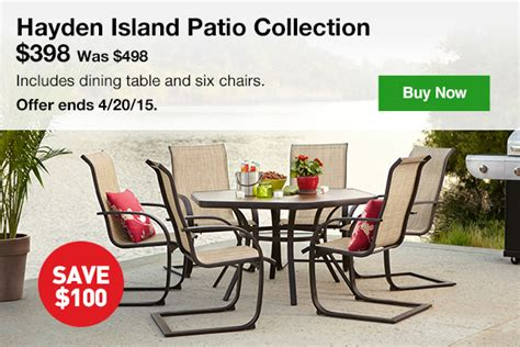 hayden island patio furniture lowes take the savings outside 100 the hayden island patio collection milled