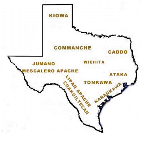map of texas indians early peoples and indian civilizations