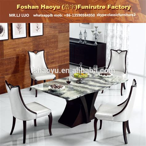 restaurant wooden table with real marble top dining room