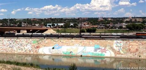 pueblo  levee mural worlds largest painting