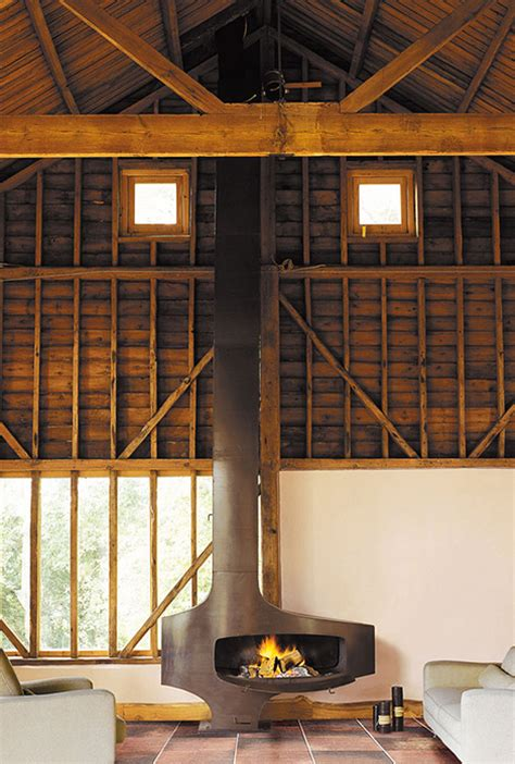 loft fireplace industrial style fireplace  focus