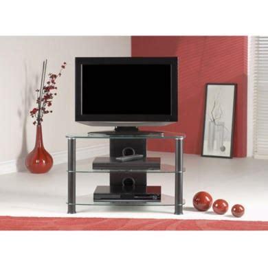 jual furnishings thorley black glass small corner tv
