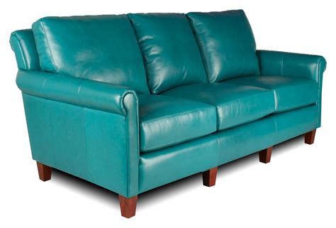 Turquoise Leather Sofa   Turquoise Leather Sofa, Custom
