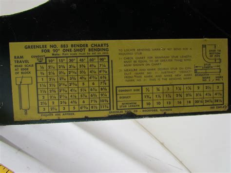Greenlee Table Bender by Greenlee 883 Hydraulic Pipe Conduit Bender Frame Ebay