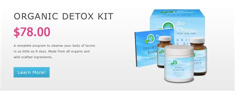 Thc Detox Kit Uk by Bio Cleanse Organic Detox Kit And Detox Diet Program