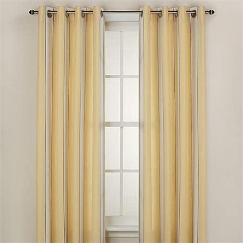 yellow bathroom window curtains buy lauren stripe 108 inch window curtain panel in yellow