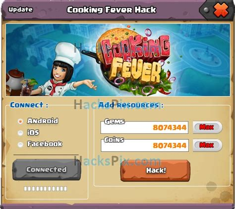 download game cooking fever mod revdl cooking fever hack unlimited gems and coins