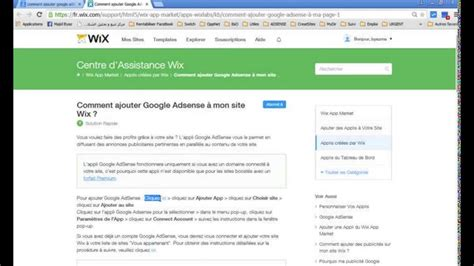 Adsense On Wix | comment connect 233 google adsense 224 mon site wix youtube
