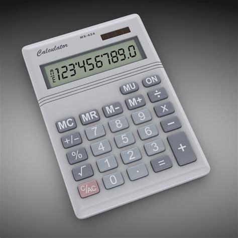 calculator game level 24 calculator number 3d model