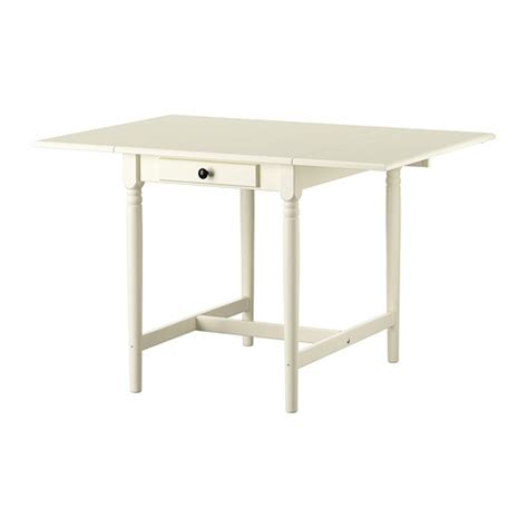 Drop Leaf Table White Ingatorp Drop Leaf Table White 59 88 117x78 Cm Ikea