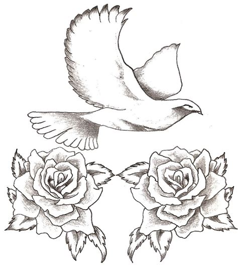 dove and rose tattoo designs insights dove designs gallery