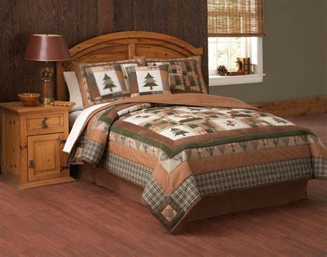 cabin bedding sets lodge cabin moose head bear pines brown twin full queen