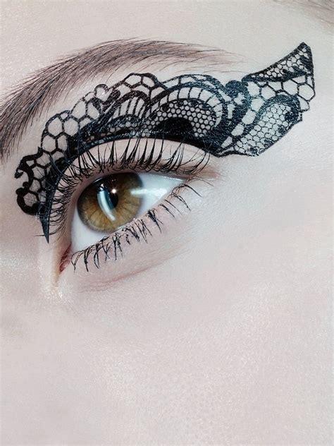 eye tattoo temporary temporary lace eyelid tattoos art tattoos face body