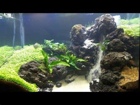 aquascape  sandfall youtube air mancur akuarium pasir