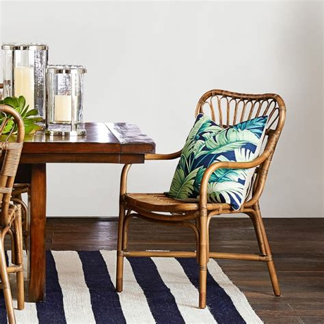st martin rattan dining armchair williams sonoma