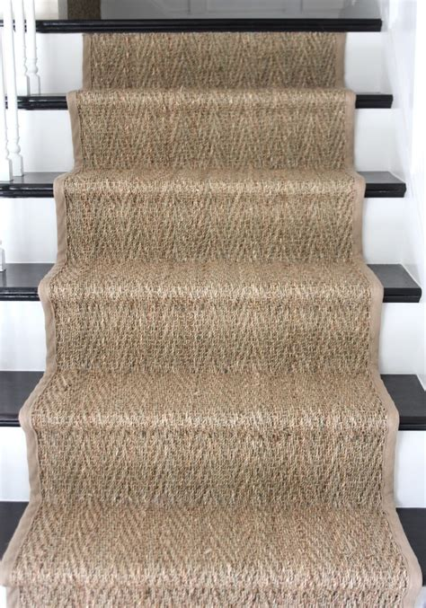 Diy Woven Rug How To Install A Seagrass Stair Runner Shine Your Light
