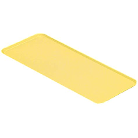 yellow bakery cambro yellow 9 quot x 18 quot x 13 16 quot deli bakery display trays 12 pk 918mt 145