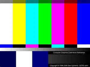 tv color calibration systems gamma and color calibration test pattern