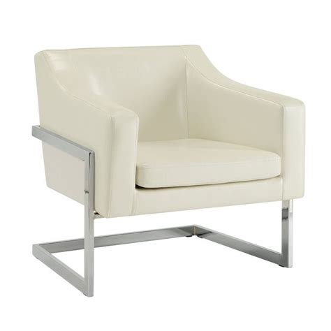 metal accent chair coaster contemporary accent chair with metal frame in white 902539