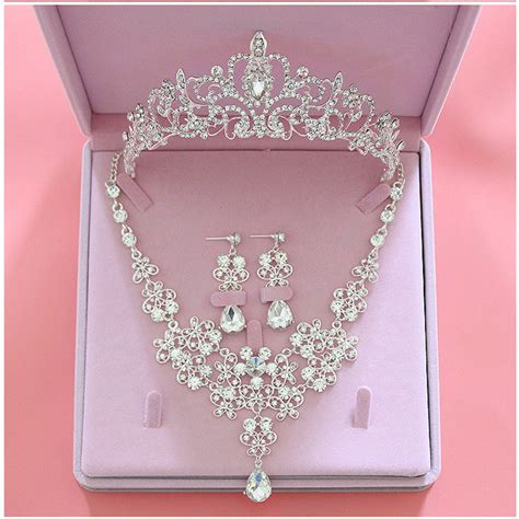 Wedding Crown Earring fashion wedding bridal jewelry sets tiara crown