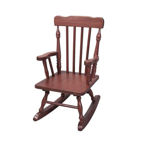 Cherry Rocking Chair - cherry finish wooden designer spindle childrens rocking